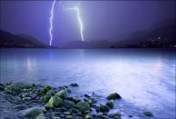 weather lightning landscape