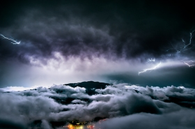 weather lightning landscape