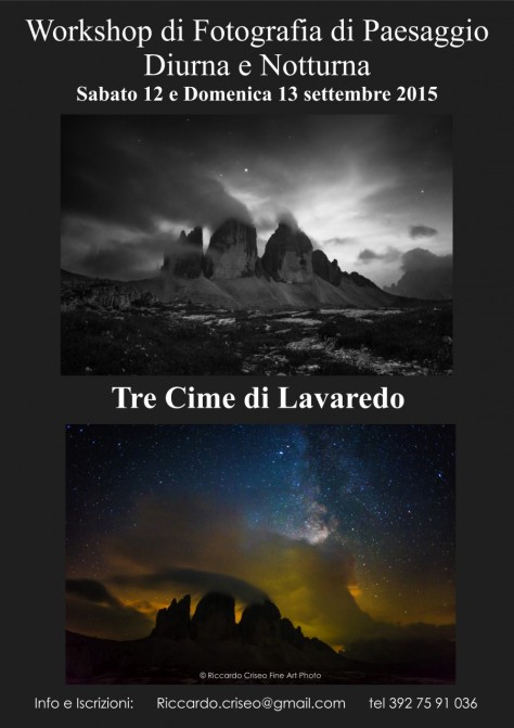 workshop tre cime di Lavaredo