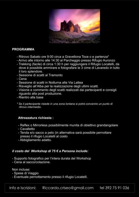 workshop tre cime di Lavaredo2